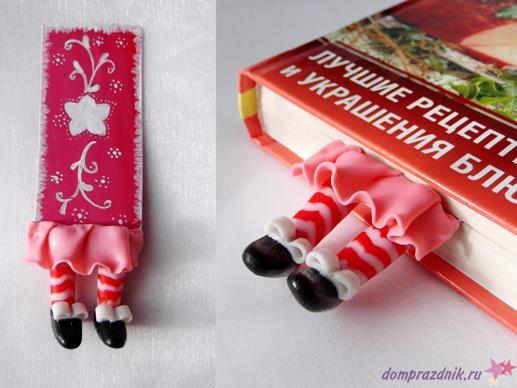 Закладки для книг из полимерной из глины своими руками