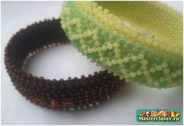 Необычные браслеты из бисера