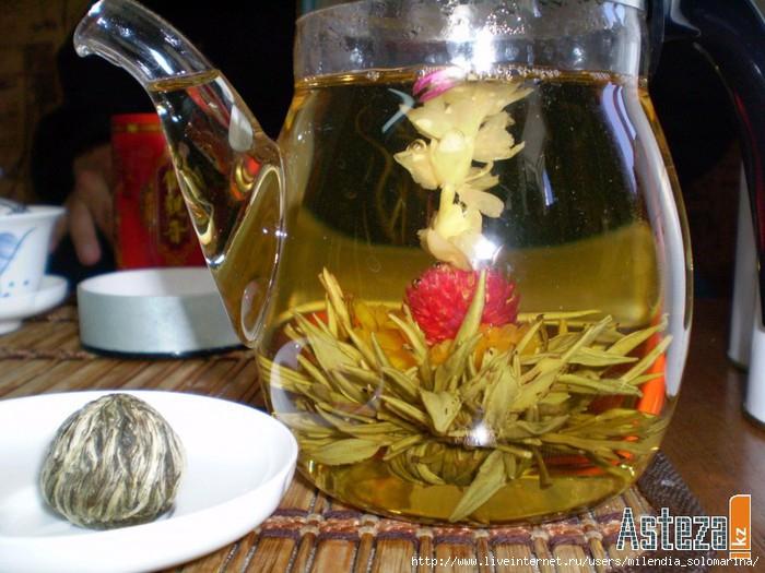 Чай который раскрывается как цветок