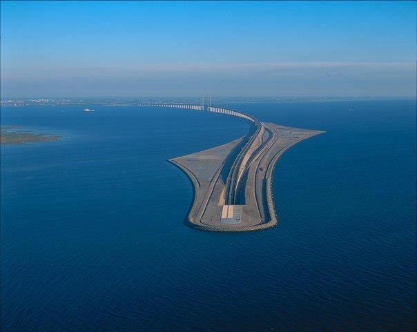Уникальный Эресуннский мост-тоннель, соединяющий Копенгаген и Мальмё (604x481, 23Kb)