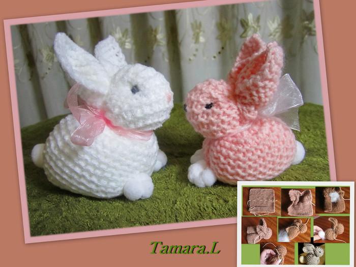 Вязание спицами игрушка заяц 18