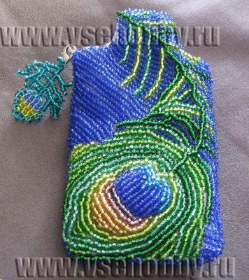 Мозаичное оплетение напёрстка бисером.