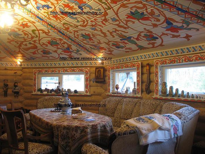 этом роспись в бревенчатых домах предлагаем Вам