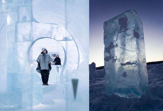 Самой большой в мире отель изо льда и снега в Швеции. Фотографии