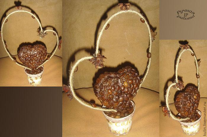 Топиарий из кофе сердечки своими руками
