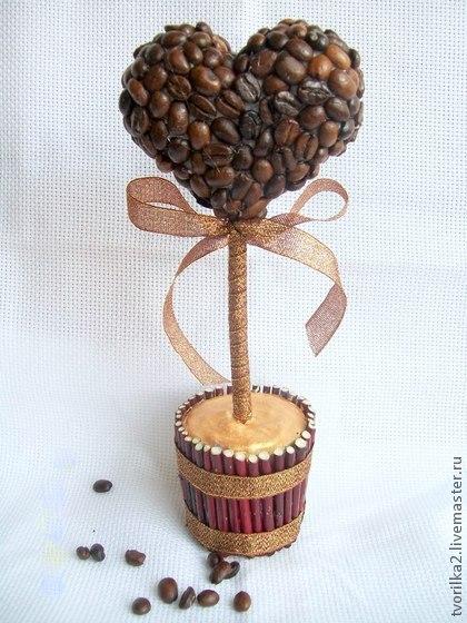 Дерево из кофейных зерен своими руками мастер фото 357