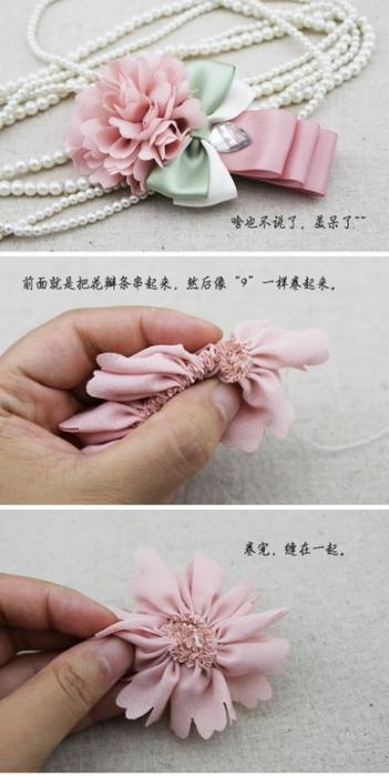 сшить своими руками-цветы из ленты-из ткани (351x700, 151Kb)