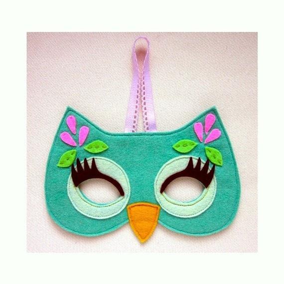 Как сделать маску совы видео