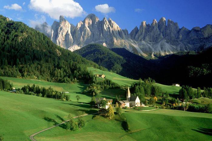 Доломитовые Альпы, Италия (700x466, 61Kb)