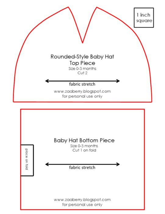 Сшить шапку для девочки из трикотажа выкройка 48
