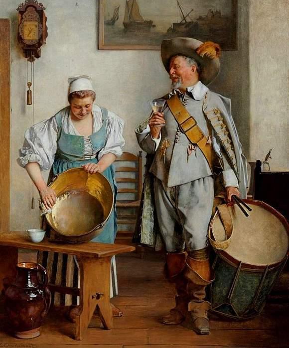 Eduard Charlemont (1848-1906).A Drink for the Drummer (580x700, 59Kb)