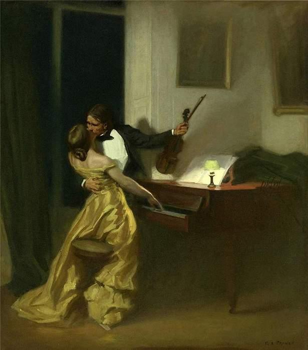 Kreutzer Sonata (1901). René François Xavier Prinet (French, 1861-1946). (615x700, 37Kb)