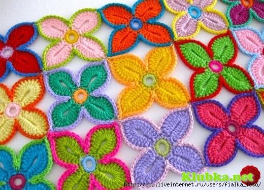 схемы крючком цветов - Самое