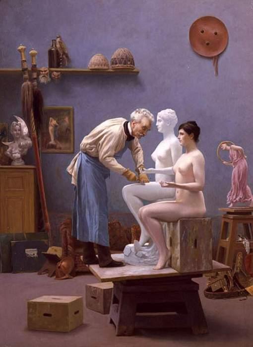 The Artist and His Model (c. 1890-93). Jean-Léon Gérôme (French, Academicism, 1824–1904). (510x700, 34Kb)