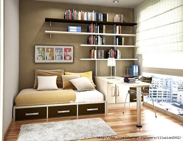 Space saving bedroom storage