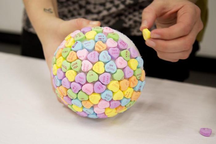 Поделки из пенопластовых шариков из мелких