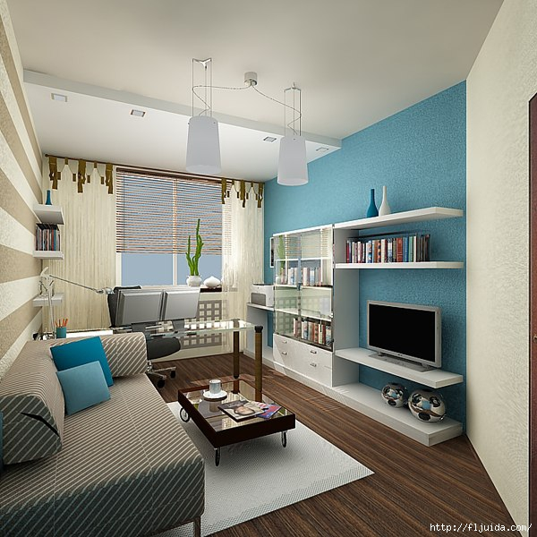 Дизайн комнаты кабинета фото