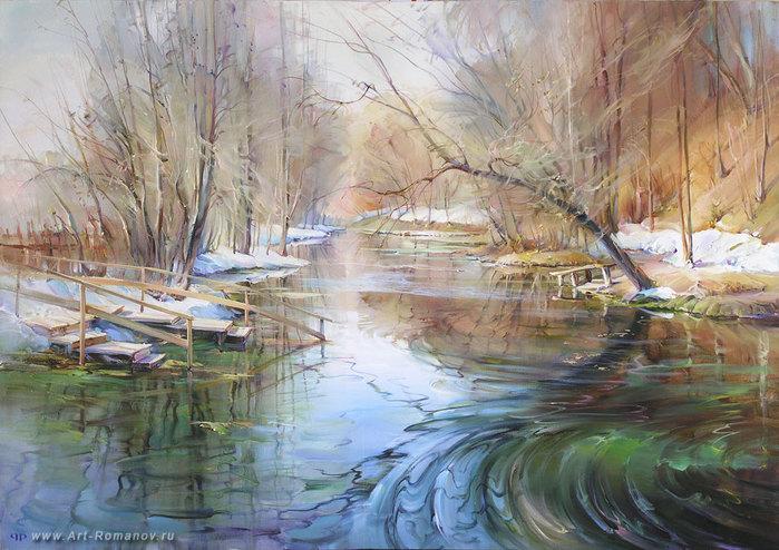 Весенние пейзажи русских художников
