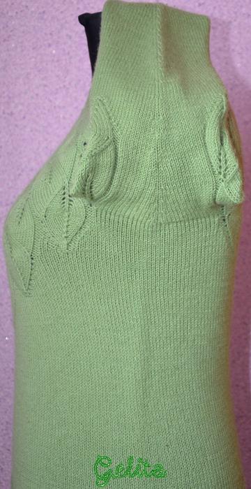 """针织叶子上衣(三):长袖套衫""""落叶"""" - maomao - 我随心动"""