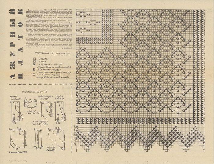 Схем вязания платков очень и