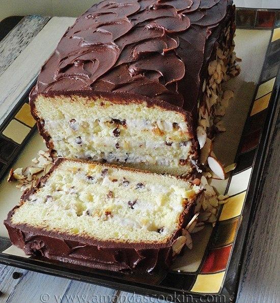 """Итальянский торт """"Кассата"""" с начинкой из сыра и сухофруктов (550x595, 112Kb)"""