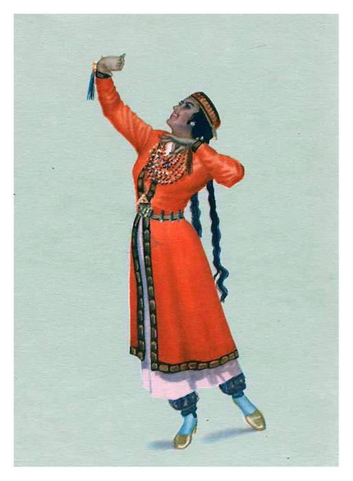 97Азербайджанский костюм раскраска
