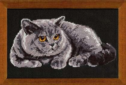 Вышивка крестом схема британского кота