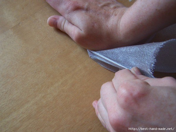 Шелковая флористика: формирование лепестков