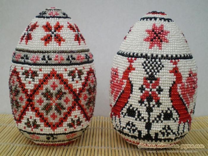 Пасхальные яйца бисером