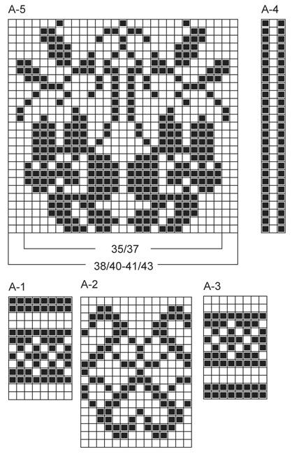 узоры 14 петель (418x650, 110Kb)