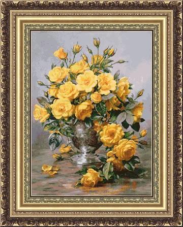 Букет от жълти рози (360x447, 48Kb)