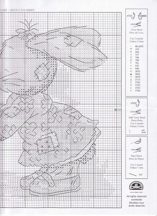 Очаровательные зайчики. вышивка крестиком, схема.