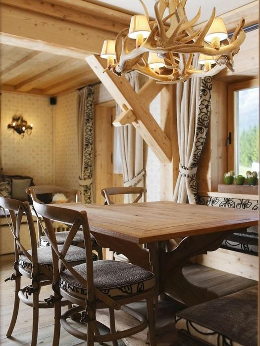 Деревянный дом в горах италии от