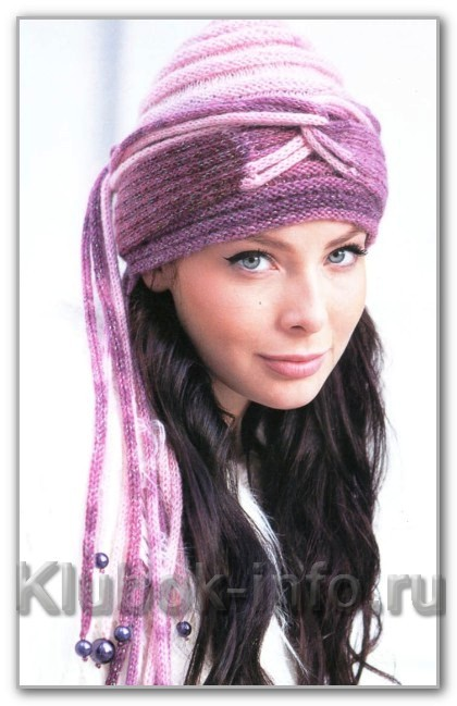 Вязаная шапочка-чалма