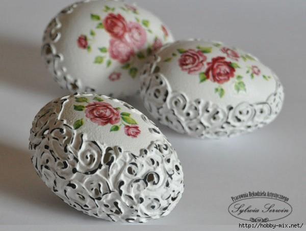 Как украсить яйца на пасху своими