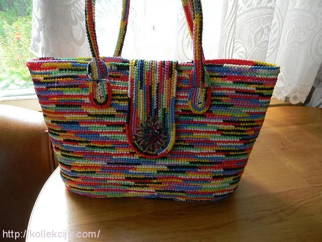 Модная сумочка из пакетов.
