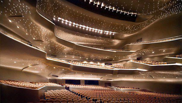 Здание оперы в Гуанчжоу (Китай), спроектированное студией Захи Хадид (604x344, 52Kb)