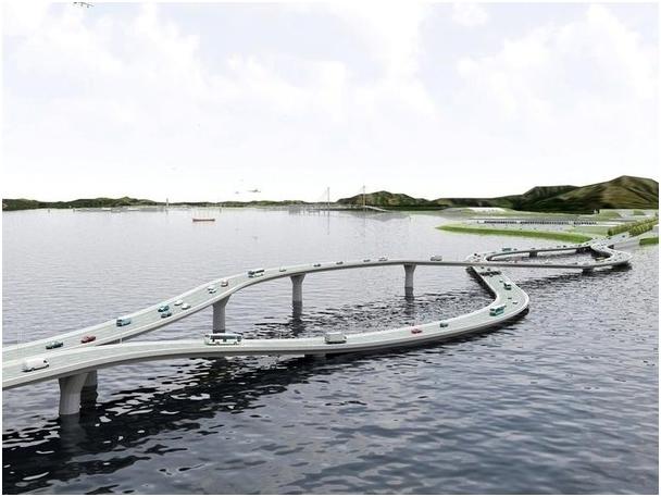 Модель этого моста была специально разработана для удобства перехода с левостороннего на правостороннее движение при переезде из Гонконга в Китай (608x457, 325Kb)