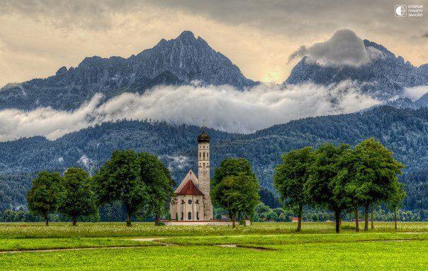 Церковь Санкт-Кальман, Бавария, Германия (604x382, 60Kb)