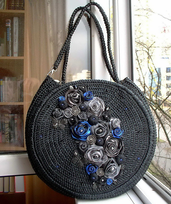 Декор бусинами сумки своими руками мастер класс 74