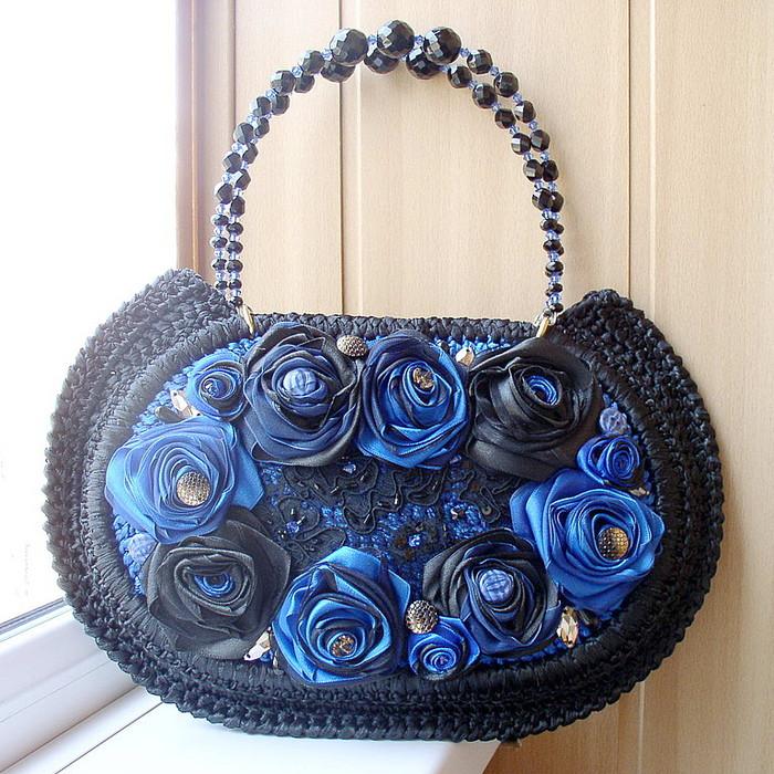 Декор бусинами сумки своими руками мастер класс 23