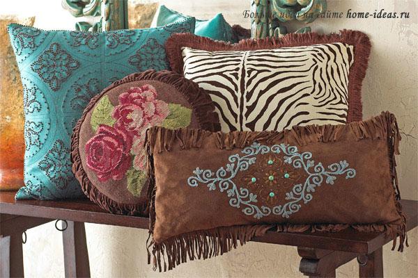Подушки для дома своими руками фото