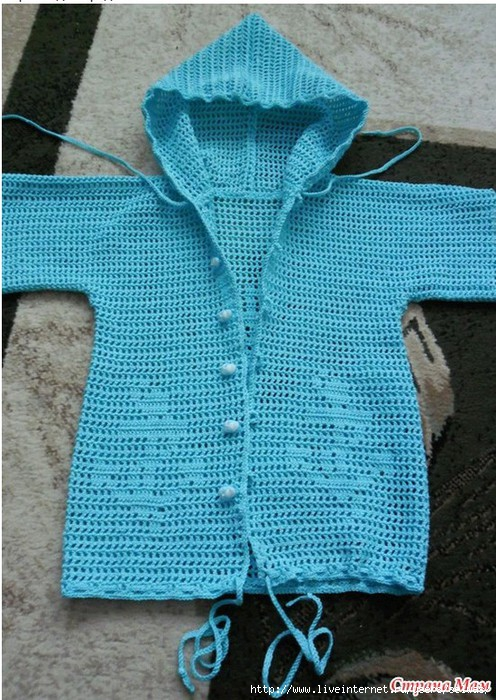 Летняя курточка\кофта с капюшоном вязаная крючком для малыша/4683827_20130223_100910 (496x700, 283Kb)