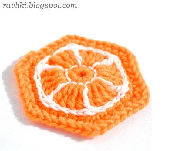 Апельсиновый шестиугольный