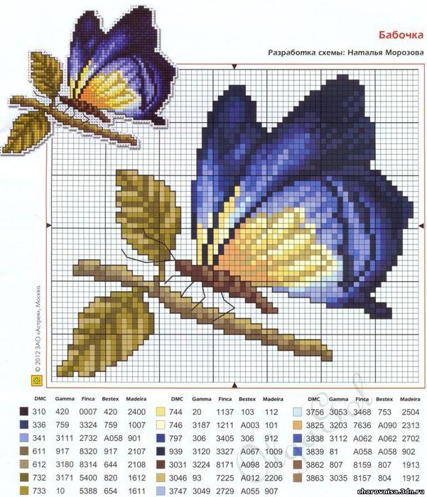 Трафареты для вышивки бабочки