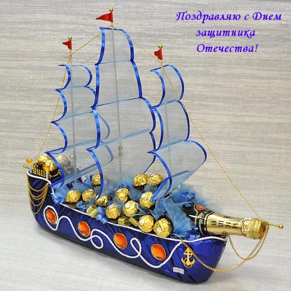 Кораблик из конфет своими руками мастер класс