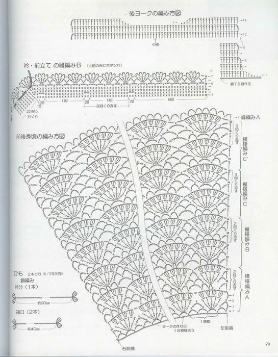 Схема вязания платья для новорожденной девочки 88