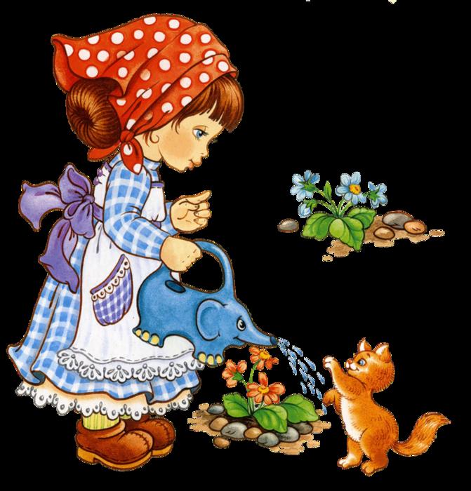 Дети сажают цветы картинки 6