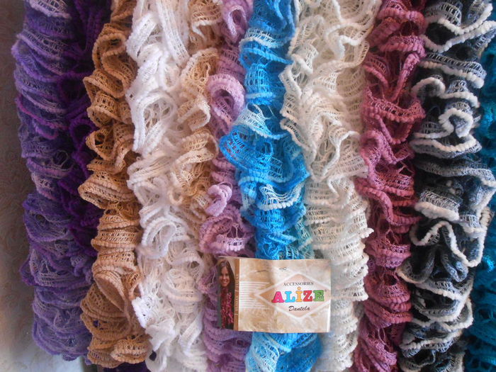 какие нитки выбрать для шарфа для