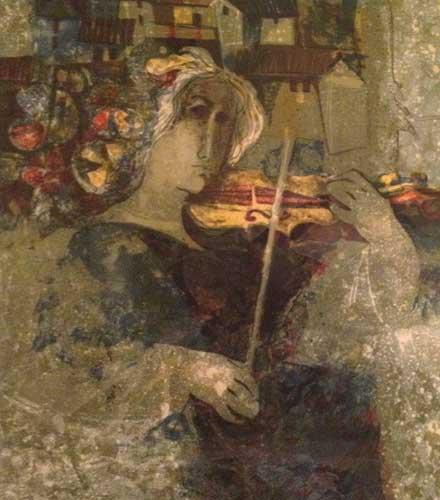 Женщина со скрипкой. (440x500, 32Kb)